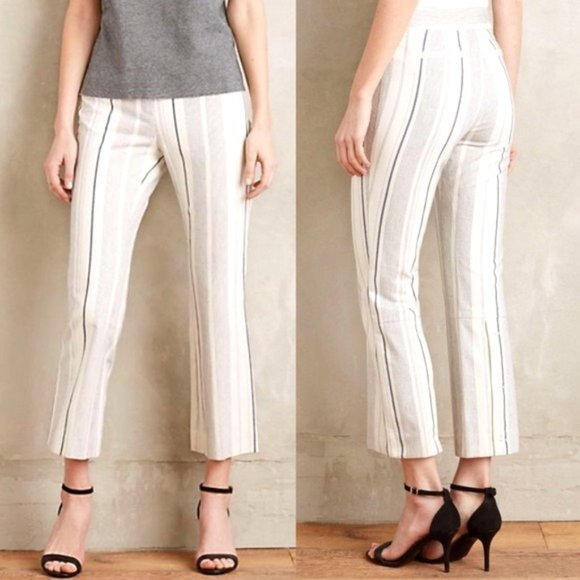 ANTHRO CARTONNIER Charlie Cropped Striped Pants